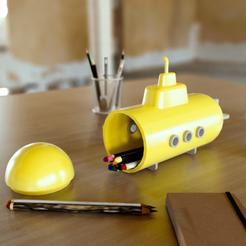 Yellow submarine.Denoiser.png Download STL file Submarine-shaped case • 3D printing template, martinbarrera