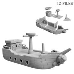 pirateship_0052.jpg Télécharger fichier STL Piraterie • Design pour imprimante 3D, FlorianAzar