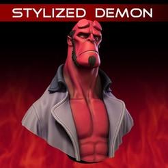 001.jpg Télécharger fichier STL Démon stylisé • Objet imprimable en 3D, monstersbarcelona