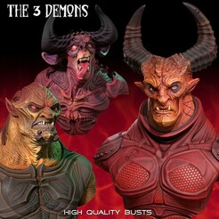 3_Demons_FICHA copy.jpg Download STL file The 3 demos • 3D print model, monstersbarcelona