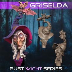 Griselda001.jpg Télécharger fichier STL Griselda la sorcière • Plan imprimable en 3D, monstersbarcelona