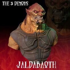 Jaldabaoth_FICHA copy.jpg Download STL file Jaldabaoth Demon • 3D printable template, monstersbarcelona