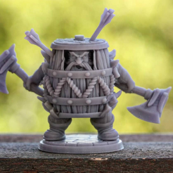 kiiji.png Download STL file Klaus The Barrel - Presupported • 3D printing design, MiniaturesOfMadness