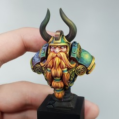 1 - Dwarf King - Marko Miladinović - Craftworld Studio.jpg Download STL file King Bust - Presupported • 3D printer model, MiniaturesOfMadness