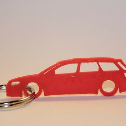rs3.jpg Download STL file Audi A4 RS4 Keychain • Design to 3D print, martinkoovit