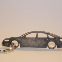 a6 c6.jpg Download STL file Audi A6 C6 Keychain • 3D print object, martinkoovit