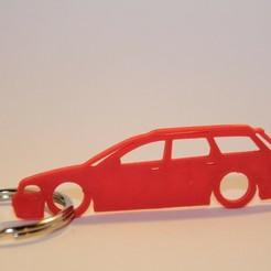 a4 b5 2.jpg Download STL file Audi A4 B5 Keychain • 3D printer template, martinkoovit