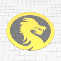 Dragon 1.png Télécharger fichier OBJ gratuit Dragons / Décoration / Médailles • Modèle imprimable en 3D, juanpaosorio