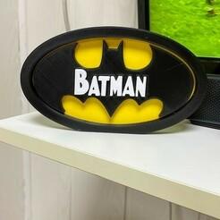 IMG_2093.JPG Download free STL file batman logo • 3D printing template, Smart3DPT