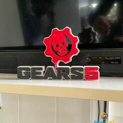 IMG_2040.JPG Download STL file gears 5 logo • 3D print model, Smart3DPT