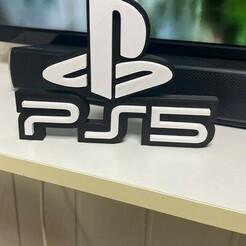 IMG_2004.JPG Download STL file Ps5 logotipo • 3D printing object, Smart3DPT