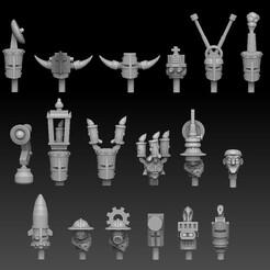steampunk head megapack logod.jpg Download STL file Steampunk Head Megapack • Object to 3D print, SharedogMiniatures