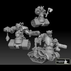 tank devils doublepacksquare.jpg Télécharger fichier STL Tank Demon Megapack • Plan imprimable en 3D, SharedogMiniatures