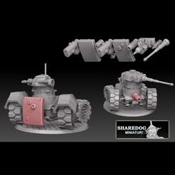 bellyguns cult.jpg Download STL file Tank Guns (for Panzer Buggy) • 3D printer model, SharedogMiniatures