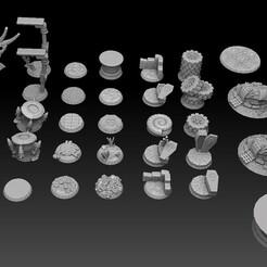 roundbase megapack sidetop.jpg Télécharger fichier STL Base ronde Megapack • Objet pour impression 3D, SharedogMiniatures