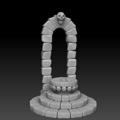 skullaltarhighrendersidefront.jpg Télécharger fichier STL Base d'affichage de l'autel du crâne • Modèle pour imprimante 3D, SharedogMiniatures