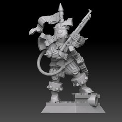 pew pew knight highres sketch side2.jpg Download STL file Techno Knight • Template to 3D print, SharedogMiniatures