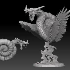 nautiloid promo.jpg Download STL file Nautiloid Dragon • 3D printing template, SharedogMiniatures