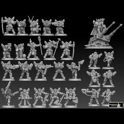 astrohumans megapack cultsscaled.jpg Download STL file Astroknight Megapack Barehead Edition • 3D printer template, SharedogMiniatures