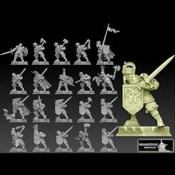 medknightkinggoldcults.jpg Download STL file Medieval Knight Megapack • 3D printing object, SharedogMiniatures