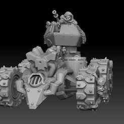 orc vulture buggy front.jpg Download STL file Orc Panzer Buggy Tank • 3D print model, SharedogMiniatures