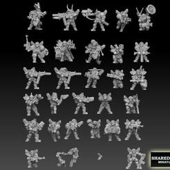 ork megapack front logod small version.jpg Download STL file Ork Astroknight Megapack • 3D printable model, SharedogMiniatures