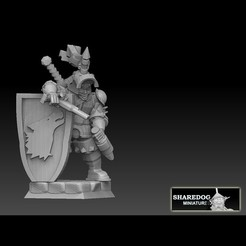raubritter squared for cults.jpg Download STL file Raubritter Robber Knight • 3D printer model, SharedogMiniatures