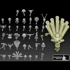 skull megapack promocults.jpg Download STL file Skulls Megapack • 3D printable model, SharedogMiniatures