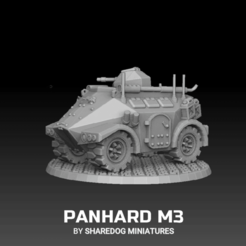 snapshot1.png Download STL file Panhard M3 • 3D printing model, SharedogMiniatures