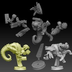 medium nautiloid insta promo2.jpg Download STL file Nautiloid Horror Medium Carapace • 3D printing model, SharedogMiniatures