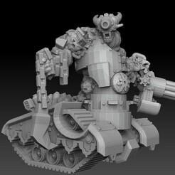 tank devil sidefront 2 persp.jpg Download STL file Tank Demon • Design to 3D print, SharedogMiniatures