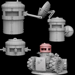 pillboxes promo image.jpg Download STL file Tank Turret Pillboxes • Template to 3D print, SharedogMiniatures