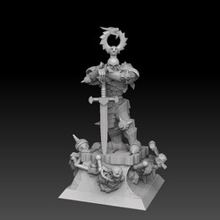 lichlordbasehighrender.jpg Download STL file Undead Lich Lord • 3D printing model, SharedogMiniatures