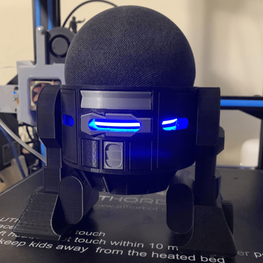 Download STL file Droid Echo Dot (4th Gen) Holder • 3D printing object, Cruxie