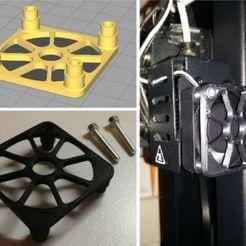 Fan_prot_ennelab.JPG Download free STL file Fan protection (Fan 40x40 mm - Wanhao I3mini) • 3D printer object, ennelab