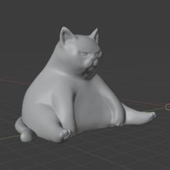 chonk1.png Download OBJ file Chonk - big mad kitty • Design to 3D print, sendlovestore