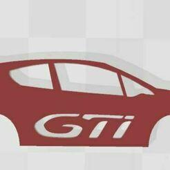 208gti.JPG Download STL file Peugeot 208 GTI Keychain • Object to 3D print, Swazy