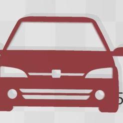 106.JPG Télécharger fichier STL Porte-clés Peugeot 106 • Design pour imprimante 3D, Swazy
