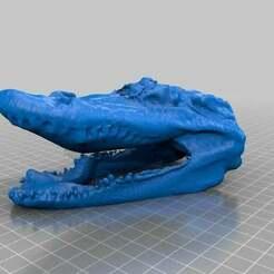 My_Scan_2013-10-01_04.55_PM.jpg Télécharger fichier STL gratuit tête de crocodile • Design à imprimer en 3D, nickdisney