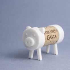 Download free 3D printer files Cork Pals: The Pig, UAUproject