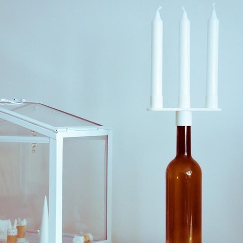 1.jpg Download free STL file Bottle Candelabra • Object to 3D print, UAUproject