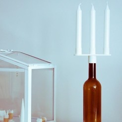 Free 3D printer designs Bottle Candelabra, UAUproject