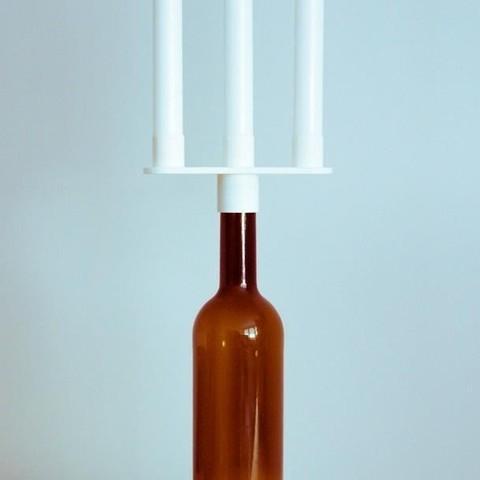 2.jpg Download free STL file Bottle Candelabra • Object to 3D print, UAUproject