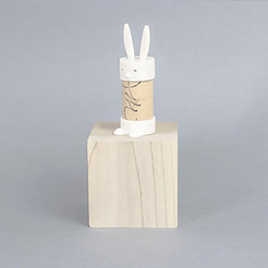 Lapin.jpg Download free STL file Cork Pals: Mr. Rabbit • 3D printer design, UAUproject