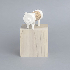 Free 3D printer model Cork Pals: The Pig, UAUproject