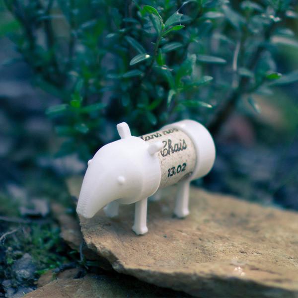 Tapir_2.jpg Download free STL file Cork Pals: Tapir-Rex (T-Rex) • 3D printer design, UAUproject