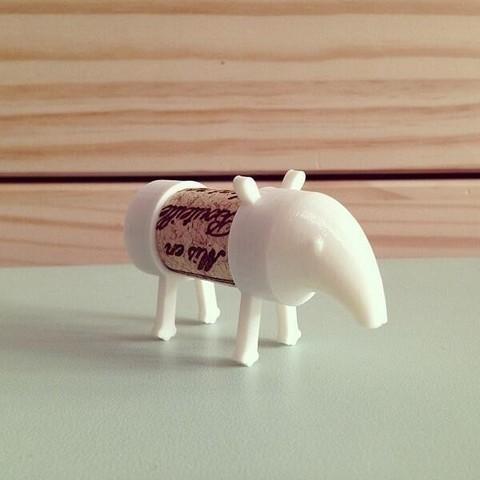 large_BmZdZQVIIAAwUm3.jpg Download free STL file Cork Pals: Tapir-Rex (T-Rex) • 3D printer design, UAUproject