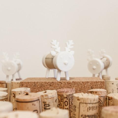 IMG_1281-2.jpg Download free STL file Cork Pals: Frankly my Deer • 3D printer design, UAUproject