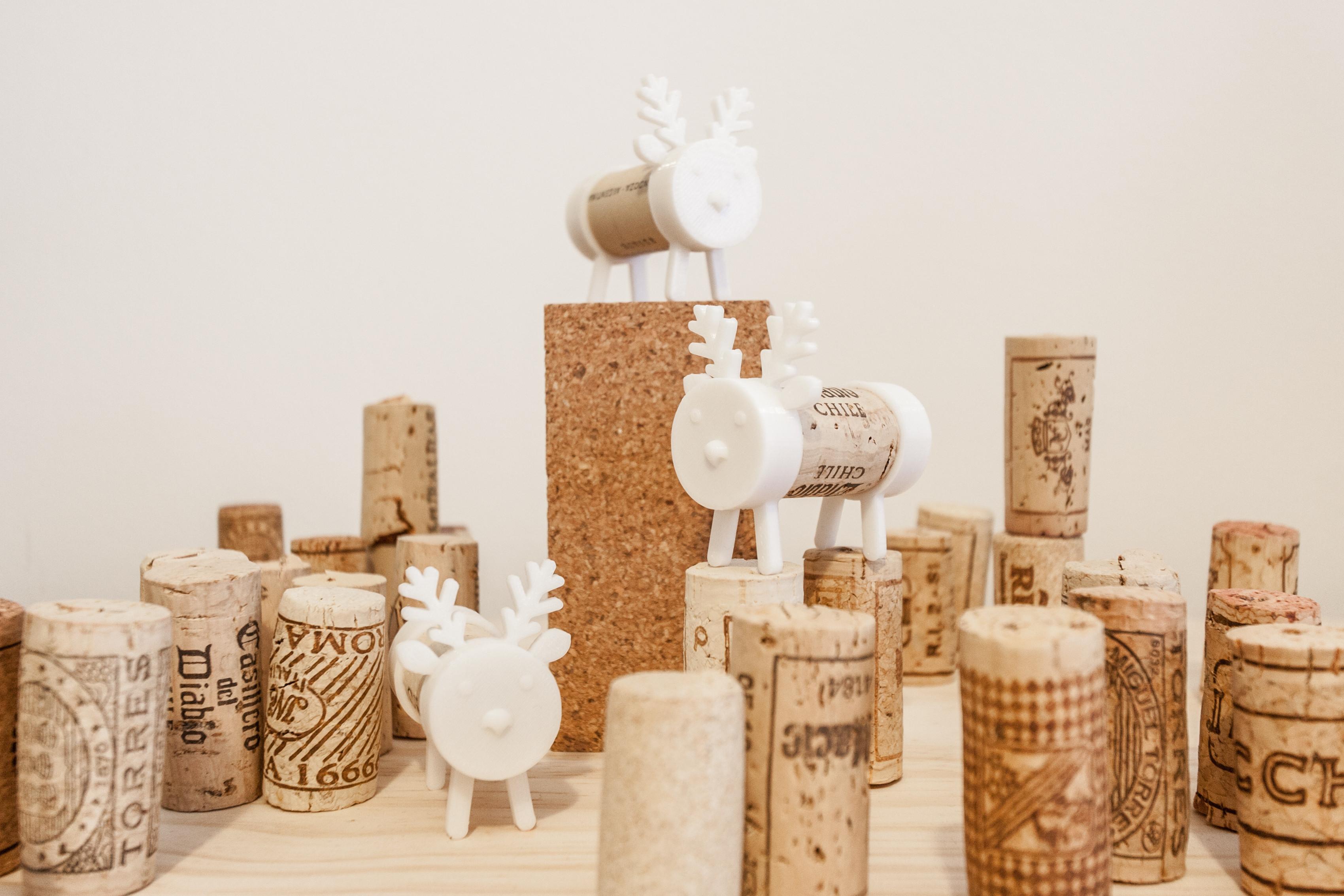 IMG_1287-2.jpg Download free STL file Cork Pals: Frankly my Deer • 3D printer design, UAUproject