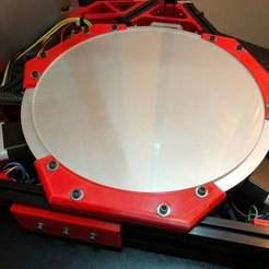 IMG_6487.jpg Download free STL file Kossel 300 Heatbed/glass bed holder • 3D printing design, SweetPrinting